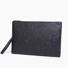 Korean fashion trend men embossed handbags, business leisure ipad handbags.
