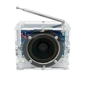 Image 2 - FM radyo pratik hoparlör elektronik kiti hediye 4.5V 5.5V Mini dijital şeffaf 8ohm ses DIY lehimleme Stereo ev alıcısı