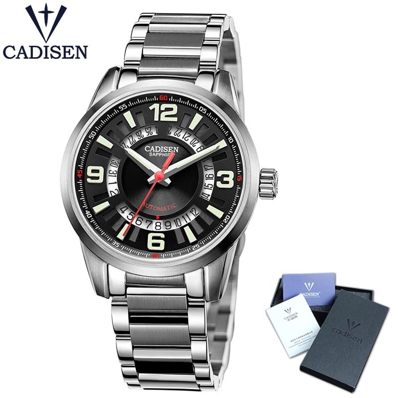 CADISEN C8100 Men's Watch MIYOTA 8215 Automatic Mechanical Watch Top  Brand Luxury Watch Men Clock Relogio Masculino relogios