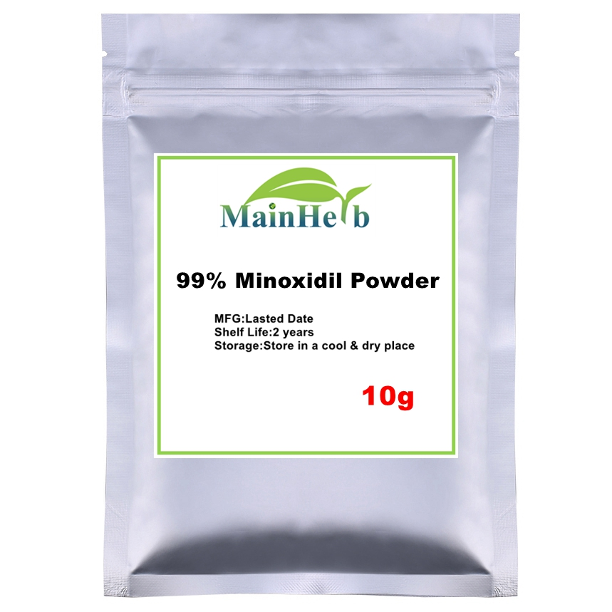 10-1000g 99% Minoxidil Powder For Hair Care, Free Shipping