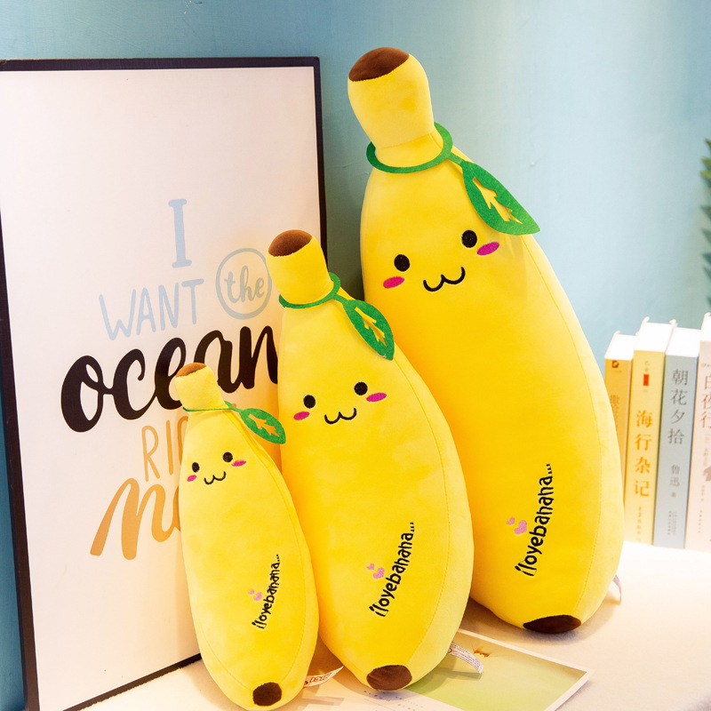35-50cm Fun Creative Cartoon Banana Plush Soft Pillow Sofa Cushion Baby Cute Plush Doll Children Fruit Toys Children Gift WJ110
