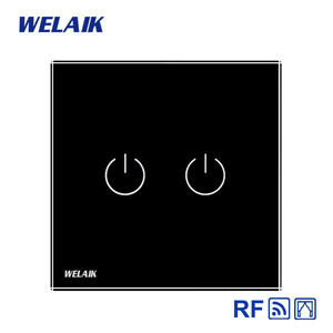 Image 4 - WELAIK EU Curtains Switch RF 433MHZ Glass Panel Remote Control Curtains Touch Switch Wall Blinds Switch  AC250V A1923CLCWR01