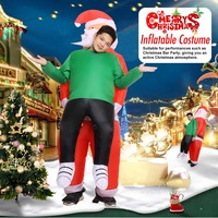 Christmas Costume Inflatable Costume Santa Claus Hug People Costume Cosplay Costume For Adult Halloween Party Festival