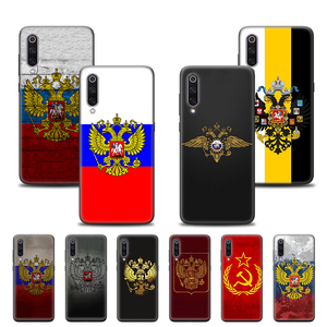 Case Cover for Xiaomi Mi A1 A2 5X 6X 8 9 9SE 9T CC9 CC9E Note 10 Lite Pro 5G Poco F1 Phone Back Shell Russia Flag coat of arms(China)