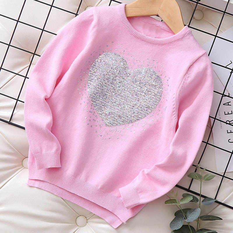 Keelorn 스웨터 소녀 겨울 긴 소매 따뜻한 봄 니트 아기 소녀 스웨터 걸스 풀오버 탑 3-7 년 하트 스웨터 걸스