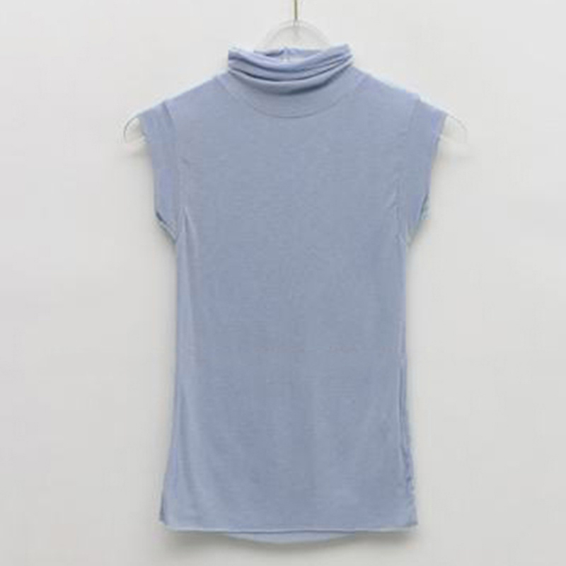 Summer New Modal Corset Tops To Wear Out Sleeveless Turtleneck Tops For Women Korean Casual White Tank Top Women Clothes 11972 5