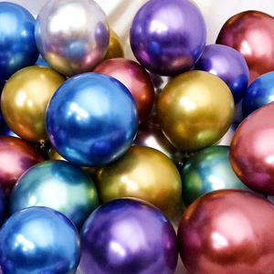Image 1 - 10/20/30 adet gümüş pembe siyah Metal lateks balonlar helyum Globos düğün süslemeleri mutlu doğum günü partisi balon anniversaire