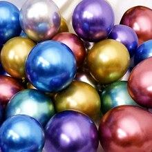 10/20/30pcs 실버 핑크 블랙 메탈 라텍스 풍선 헬륨 글로브 웨딩 장식 생일 파티 ballon anniversaire