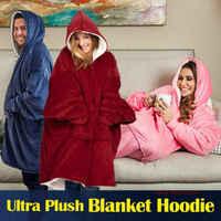 Moletom com capuz para mulher oversize moletom com capuz cobertor sherpa casacos confortável pulôver natal sudadera mujer