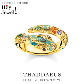 Golden-coloured Magical Looks Snake Ring,Thomas Style Fashion Classic Good Jewerly For Women,2020 Ts Gift In 925 Sterling Silver