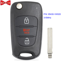 KEYECU for Kia Rio 2012 2013 Modified Remote Control Car Key Fob 3 Button 315MHz P/N 95430 1W020