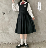 2019 summer and autumn new Japanese Cute college wind girl vest dress dress