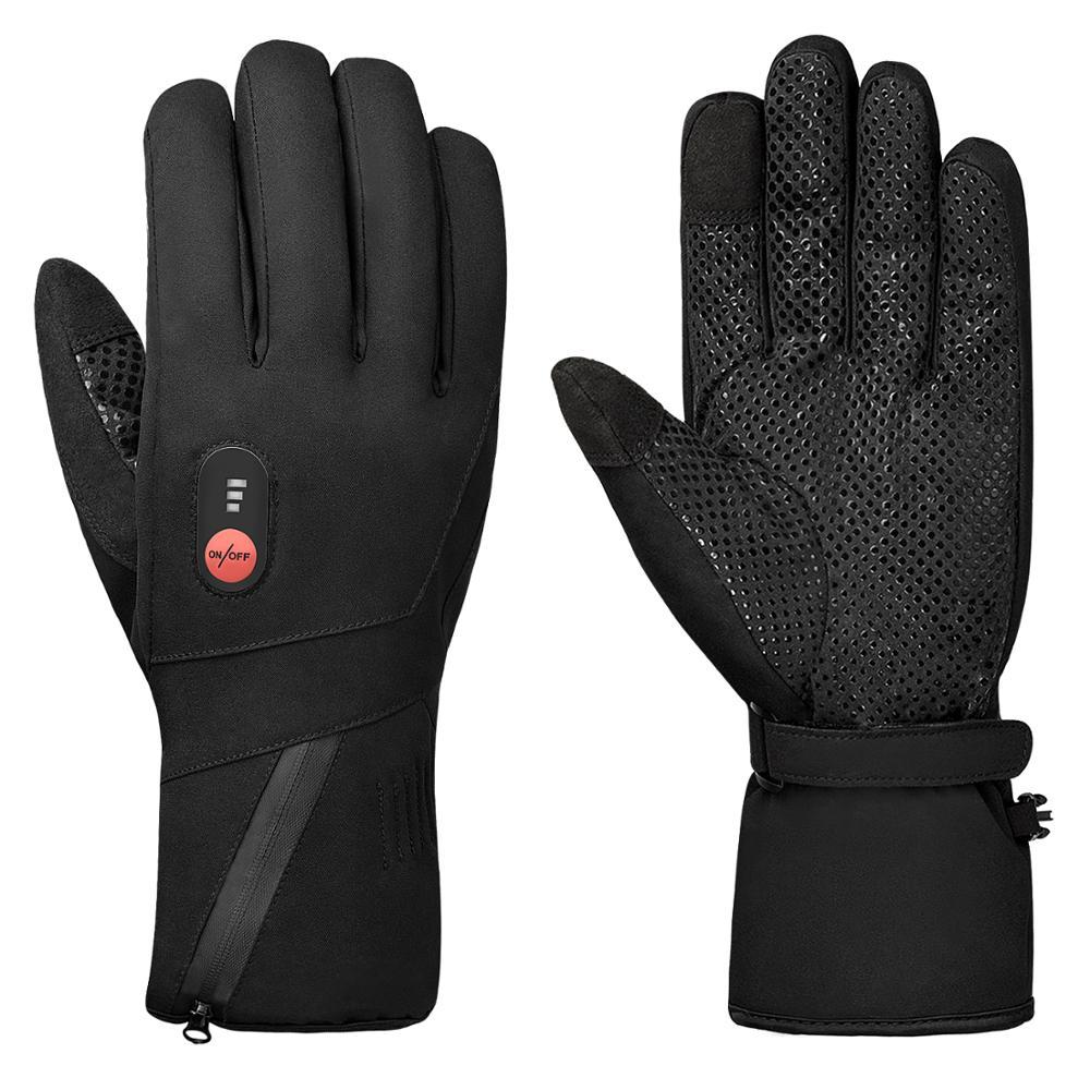 2020 новые зимние теплые Батарея перчатки с подогревом 3 переключения Температура регулировки обогревающие перчатки для Лыжный Спорт Велосп...
