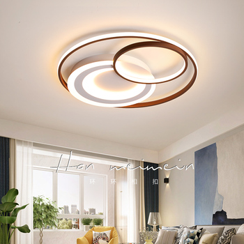 Round Modern LED Ceiling Chandelier Living Room Study Bedroom Kitchen Home Decor Acrylic Surface Mounted LED Chandelier