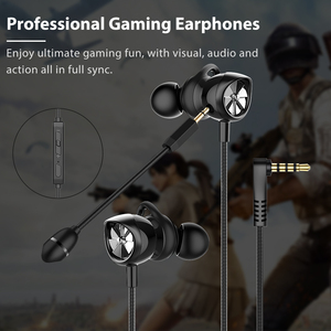Image 1 - Langsdom Gaming Headset In Ear Earphones 3.5mm Wired Hi Fi Bass Stereo Earbuds PUBG Gamer Headphones Dual Microphone Detachable