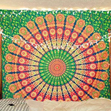 Indian Headboard Mandala Tapestry Wall Hanging Psychedelic Bohemian Hippie for Bedroom macrame curtain