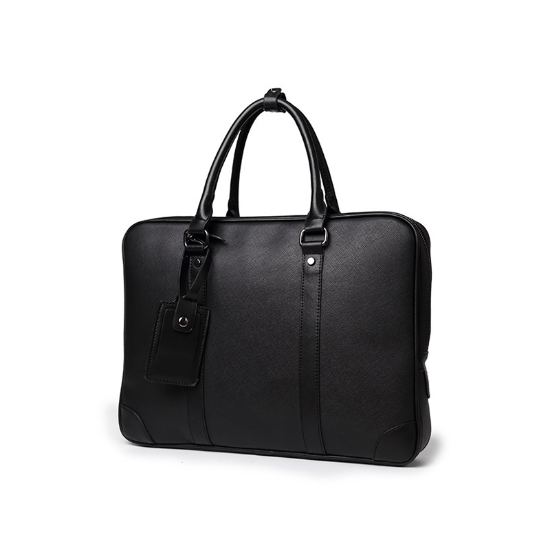 New men's business briefcase High capacity PU leather laptop bag Multi-functional high-grade leather handbag