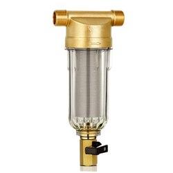4 Split usta filtry do wody z przodu oczyszczania miedzi ołowiu wstępnego filtra płukania usunąć rdzę zanieczyszczenia osadów rury w Filtry do wody od AGD na
