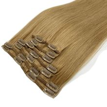 Kayla Remy Hair Clip In Human Hair Extensions Natural Black to Light Brown Honey Blonde Ombre Straight Clip Ins