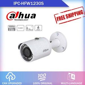 Image 1 - dahua IPC HFW1230S 2MP POE IP camera  H.265 work with alhua Original recorder waterproof  IP67 IR30m Mini Bullet Network Camera