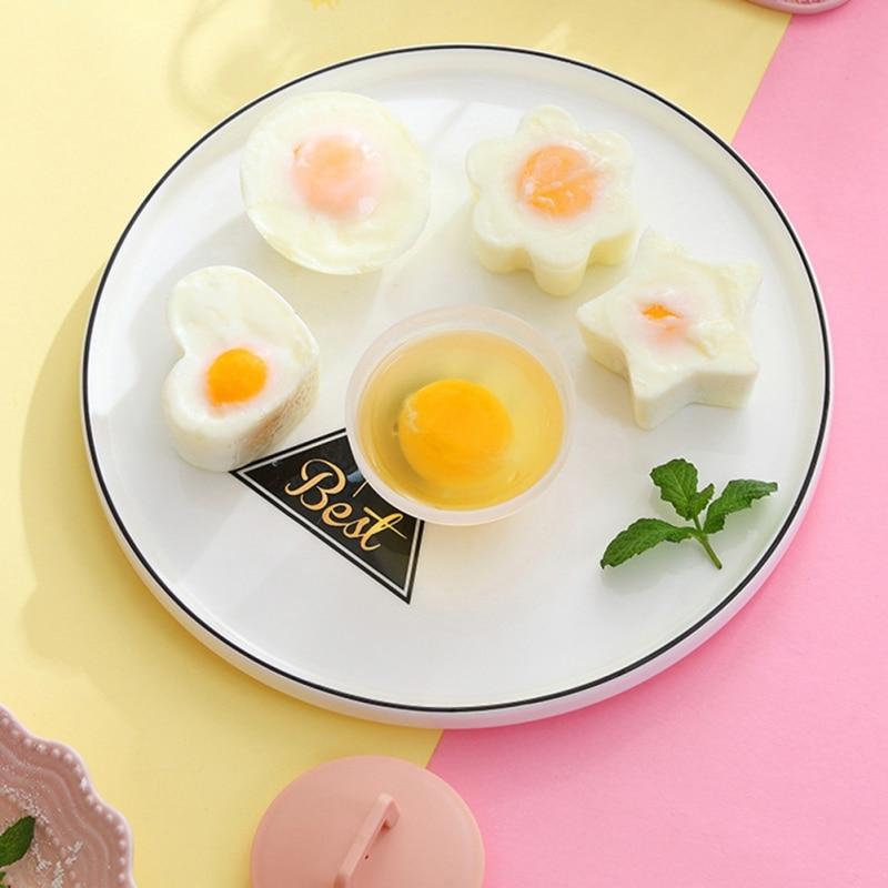 4Pcs/Set Non-stick Egg Mold Cup Cooker Hard Boil Eggs Tools Mold Easy Cook Boiler Supplement Kitchen Egg Supplies