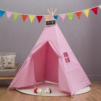 1.5M Portable Children's Tents Play House Kids Cotton Canvas Indian Play Tent Wigwam Child Little Teepee Living Room Decoration