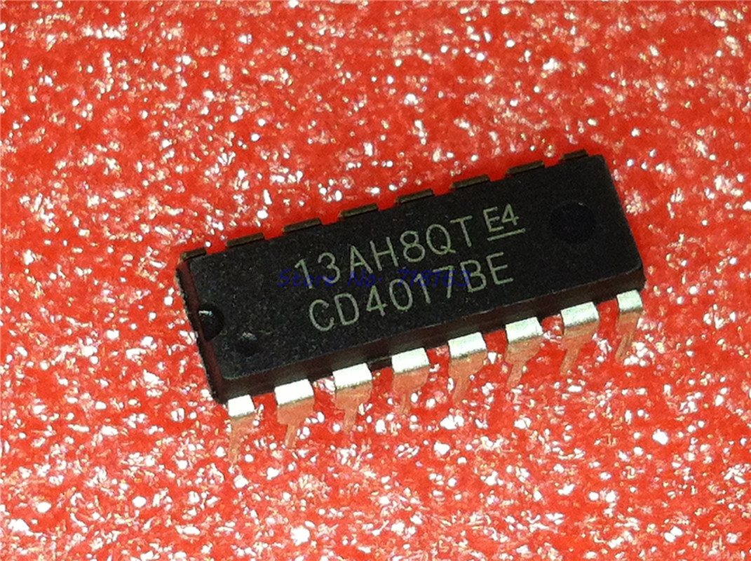 10pcs/lot CD4017BE CD4017B CD4017 DIP-16 In Stock