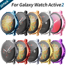 10 Pack Soft Screen Protector Cover for Samsung Galaxy Watch Active 2 Case 44mm 40mm Active2 Thin TPU Bumper Light Accessories