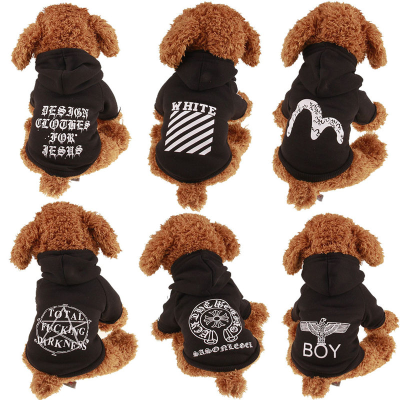 New Autumn Winter Pet Products Dog Clothes Pets Coats Soft Cotton Cartoon Hoodies Clothing for Puppy Sweatshirt