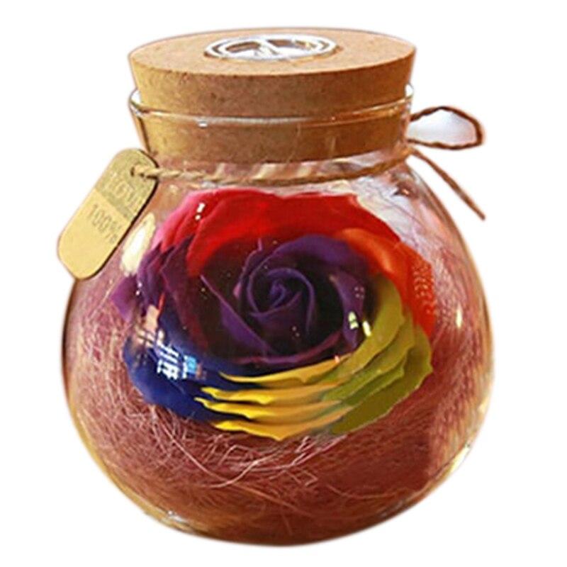 Led RGB Dimmer Lamp Night Light Flower Bottle Creative Romantic Rose Bulb Great Holiday Gift For Girl