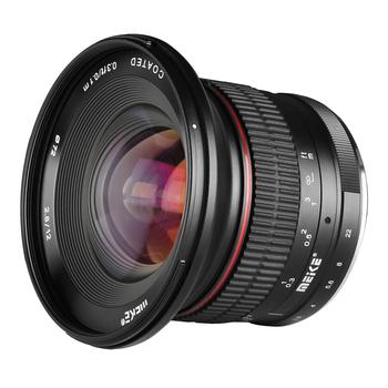 Meike 12mm f2 8 bardzo szeroki kąt stały obiektyw z APS-C z wymiennym kapturem do aparatu Fujifilm X Mount Mirrorless APS-C X-Pro2 X-E3 tanie i dobre opinie MEKE CN (pochodzenie) Obiektyw szerokokątny Stałej ogniskowej obiektywu NONE f3 5-f22 2014 Brak 92 5 Kamery 450G MK-FX-12-2 8