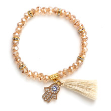 EYE EVIL New Fashion Tassel Evil eye and bead bracelet women(China)