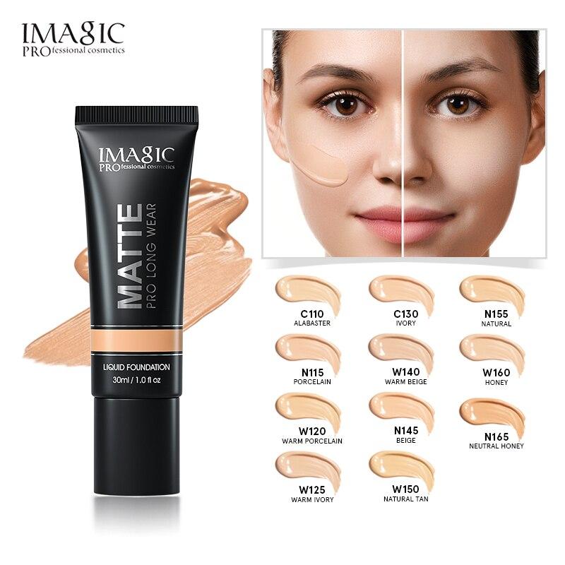 IMAGIC  Liquid Foundation Natural Brightening Base Makeup Lasting Waterproof Oil Control Face Beauty Makeup Foundation Cream