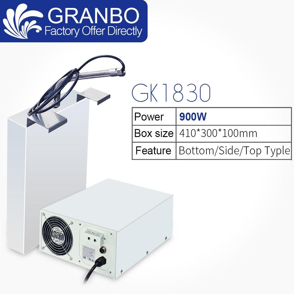Granbo GK1830 processeur à ultrasons 900W Machine de nettoyage Submersible SUS304 vibrateur-Pack 18/40Khz côté Type pour réservoir de lavage