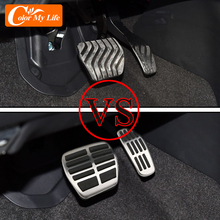 Carmilla Car Pedals for Nissan Juke 2020 2021 Accessories AT MT Brake Gas Cluth Pedal Protection Cover Stainless Steel