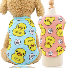 Shirt Puppy-Clothing Pet-Vest Duck-Styles Small Cartoon Cute Cheap Cat Breathable