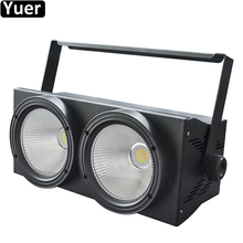 LED COB 2Eyes 2x100W Blinder Light Warm White+Cool White 2IN1 Effect Light DMX Controller Night DJ Disco Party Stage Lighting стоимость