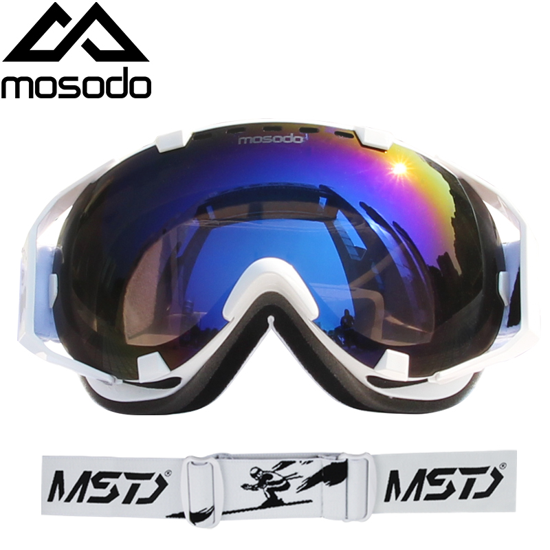 Mosodo Men Women Ski Goggles Snowboard Snowmobile Anti-fog Skiing Polarized Eyewear Snow Large Spherical Ski Glasses