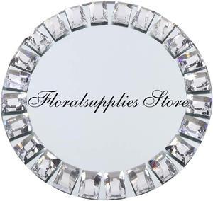 10 sztuk hurtowych lustro podtalerze okrągłe lustrzane taca ładowarka miejsce ustawienia na świąteczne naczynia impreza wakacyjna ślub