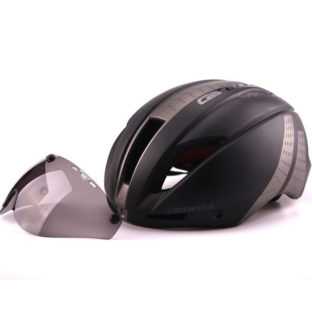 Cairbull 280g aero ultra-luz goggle tt estrada bicicleta capacete in-mold corrida ciclismo esportes segurança tempo-julgamento ciclismo capacete 5