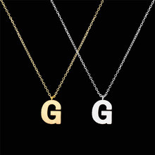 2017 New Fashion Gold Silver Plated Fine Quality Letter alphabet G H I J K L Charm Necklace Pendant For Women Friendship Jewelry