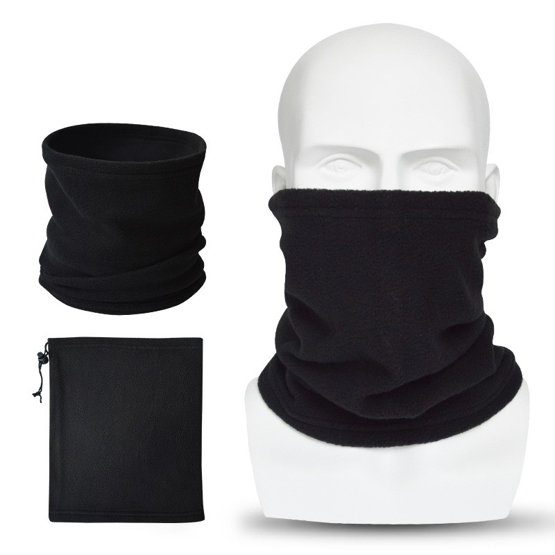 New Fashion Unisex Women Men Scarfs Warm Winter Autumn Thick Thermal Fleece Scarfs Snood Neck Warmer Face Mask Beanie Hats
