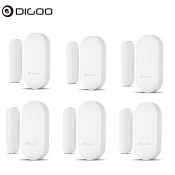 DIGOO Ulepszony 433MHz Nowy Drzwi amp Okno Alarm Sensor Drzwi Otwarte Zamknięte Czujki Bezprzewodowy Alarm Alarm Czujnik dla Digoo DG-HOSA DG-HAMA Security Alarm System Smart Home tanie i dobre opinie CN (pochodzenie) Door Window Sensor