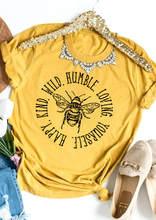 Feliz tipo selvagem humilde amar a si mesmo camiseta engraçado 100% algodão tumblr gráfico unisex feminino casual moda citações camiseta superior