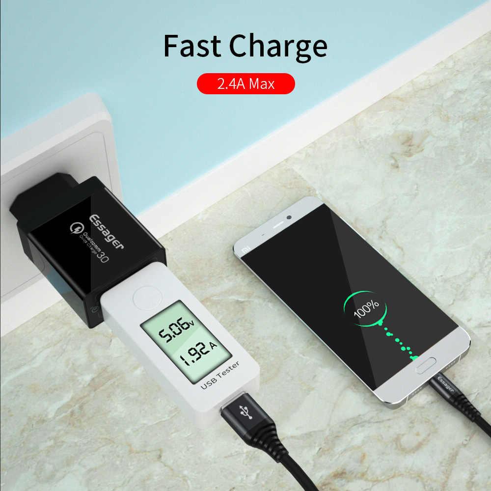 Cho Essager 5 Di Động 5A USB Loại C 0.3m 1m Dây Cáp dài 2m cho Samsung Xiaomi Redmi Note 7 Sạc nhanh Dây Cáp Dữ Liệu