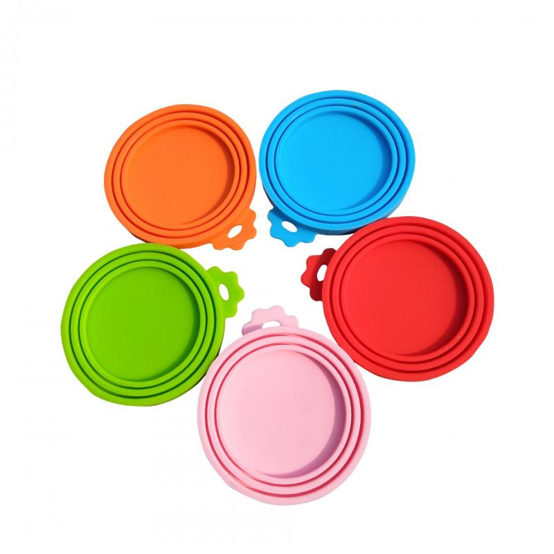1Pcs 3 In 1 Reusable Food Storage Keep Fresh Tin Cover Cans Cap Pet Can Box Cover Silicone Can Lid Hot Kitchen Supplies Dropship 1