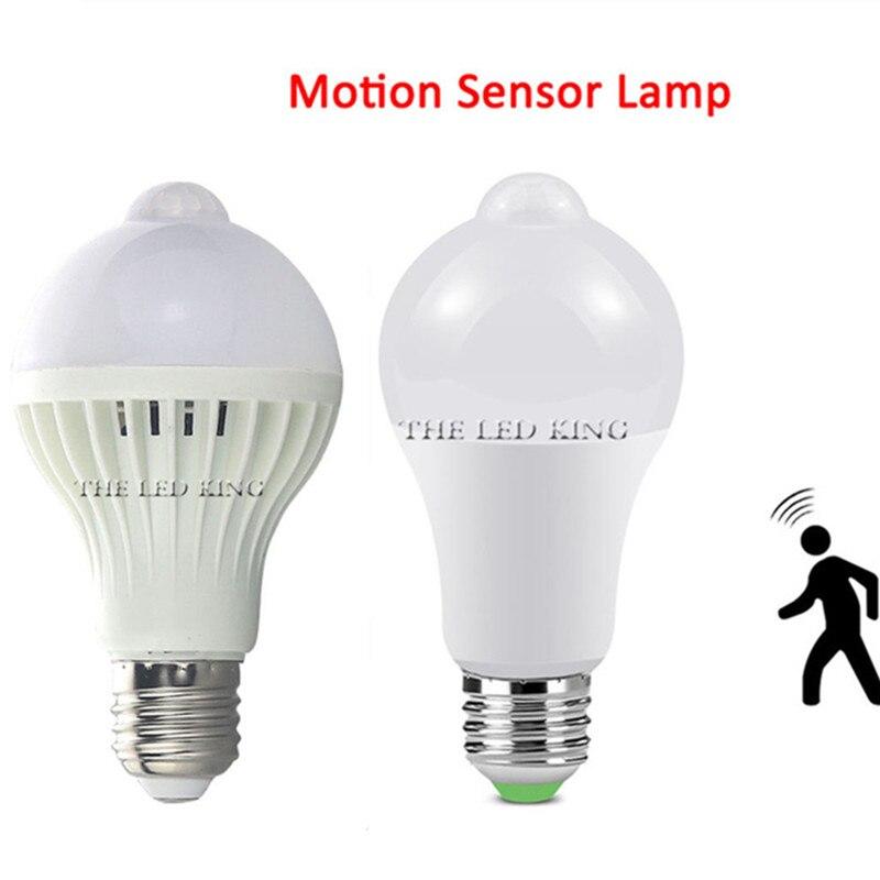 12 Вт 15 Вт 18 Вт 20 Вт светодиодный датчик движения лампа E27 Универсальный Безопасность Ночной светильник переменного тока 110V 220V экономия энергии LED светодиодный лампы PIR Декор ампулы