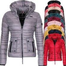 ZOGAA 2019 New Spring Coat Cotton Paddedd Light Warm Overcoat Coat Casual Solid Jacket Women