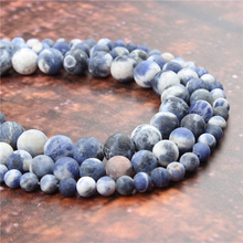 Wholesale Fashion Jewelry Matte Blue 4/6/8/10 / 12mm Suitable For Making Jewelry DIY Bracelet Necklace