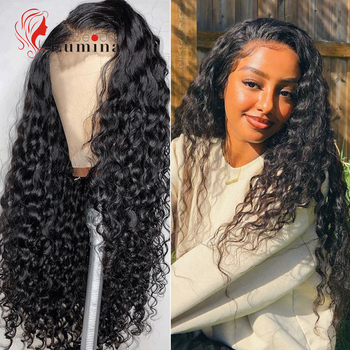 Deep Wave Lace Front Wig Natural Hairline Human Hair Wigs Pre Plucked Brazilian Deep Wave Curly Human Hair Wigs Lace Closure Wig lace frontal human hair wigs brazilian water wave wig pre plucked natural hairline 150